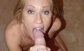 Pretty blonde amateur cum swallowing slut