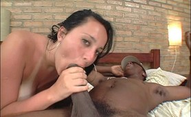Big tits whore huge black anal fucking
