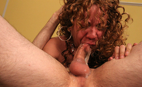 Nasty black whore deep throat slimy choking