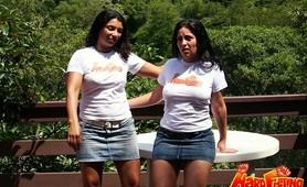 Ethnic lesbian fetish babes