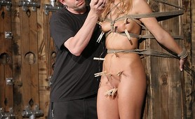 Tied Up Real Hard And Getting Some Intense Action