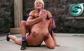Naked lesbians tough wrestling fight