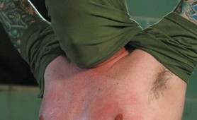 Poor boy brutalized by strapon freak