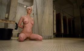 Blonde bitch slave tortured in severe bdsm