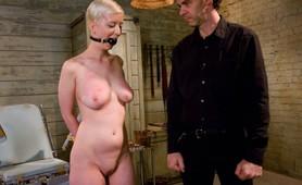 Poor Blonde Slave Gets Trained In BDSM