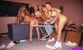 Total gangbang amateur lesbian party