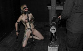 Submissive blonde amateur in painful bdsm