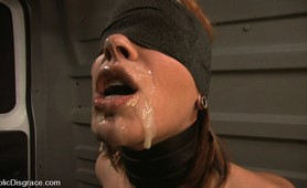 Brutalized bitch slave publicly fucked and humililated