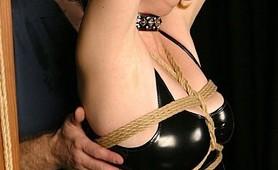 Bondage bitch auditions to painful fetish torture