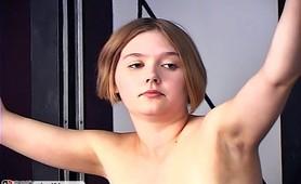 Slave ass whipping hardcore fetish army training