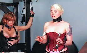 Bondaged amateur Master Len fetish punishment