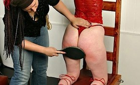 Waxed fetish slave taped and punished