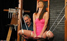 Maria suffers hard cropping and electrical torture
