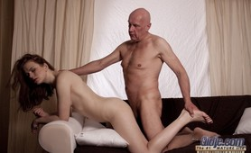 Old man licking toes and fucking holes