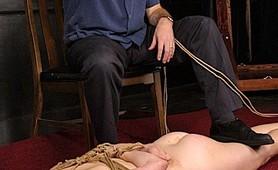 Slavegirl hogtied and fetish punished
