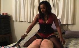 Black bitch teaches his ass a hard lesson