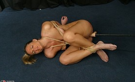 Hogtied fetish slave severe punishment
