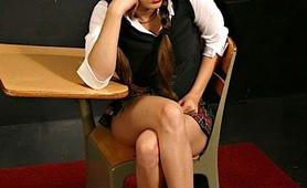 Fetish school girl slave taught a lesson