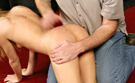 Cute Alice hot wax spanking special