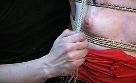Rope slave harsh fetish punishment
