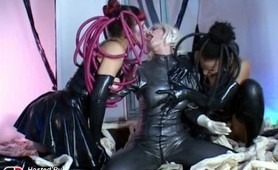 Latex fetish dominas