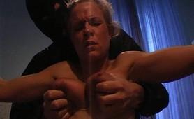 Innocent slave menaced by unforgiving master