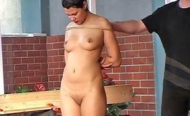Waxed slut enjoys the fetish pain