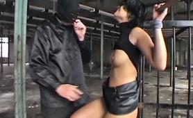 Restrained slut whipped and slapped into punishment