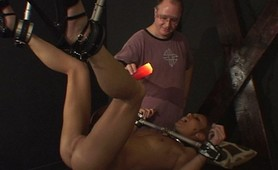 Girl next door ANgie gets locked up and gets her pussy teased and tickled