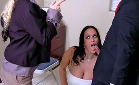 Busty secretary sluts Carmella Bing and Davia Ardell