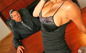 Porstar Alexis Amore visits the CockFather for get a big cock