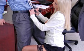 Nikki Benz going anything for her coworker attention even a hard fuck on the desk