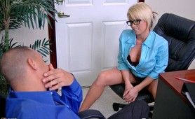 Busty Brooke Haven would do anything for some investment money