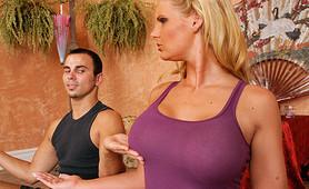 Big boobs bombshell Phoenix Marie yoga sex