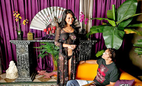 Check out this hot asian massage parlor where this hottie sucks on a cock then takes it up her pussy in these pics