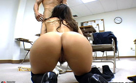 Ever been hot for teacher? Well yeah... but your teachers never look this hot! This MILF teaches the boys what a good fuck is all about... on top of cock sucking 101 of course