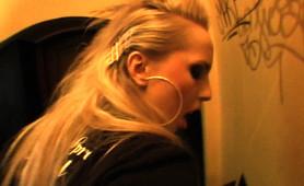Sexy Punk rocker chick fucked in public bar