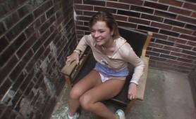Amateur Milf slammmed hard in a public alley