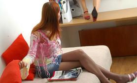Sophia&Marion dedicated pantyhose lesbians