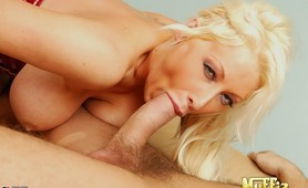 Amazing hot ass big tits blonde porn star gets her hot pussy fucked hard by a huge dong in these power fucking cumfaced pics