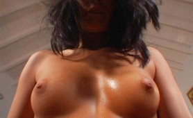 Sizzling Latina tugging bigcock
