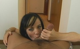 Watch her rub his cock like noone before