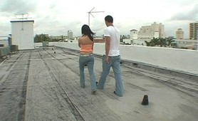 Brandi does it on the roof