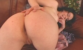 Horny Milf in glasses takes a monster cock on her juicy big round ass