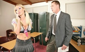 Nikki Benz fucking her teachers huge Alexander the Great Cock