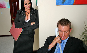Harley Raine gets fucked in office by disgrunteld employees big cock