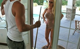Nikki Benz recruits and fucks Johnny Sins as her boy toy to work for her Big Dick Agency