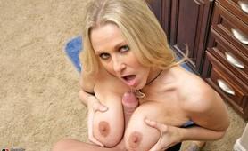 Julia Ann fucks another big dick instead of her husband