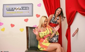 Miss Stylez wins the biggest cock on the Brazzers Bachelor Game