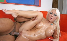 Babe from Britain loves a black cock in her tight white pink pussy!